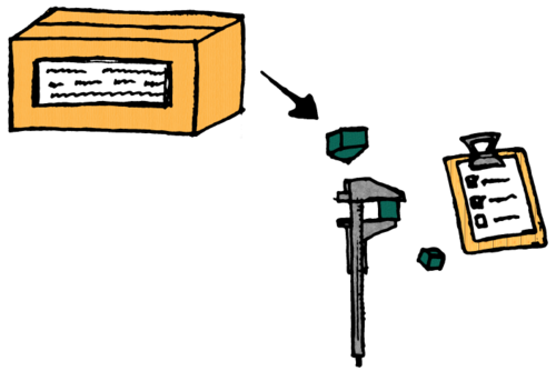Verify items in a box